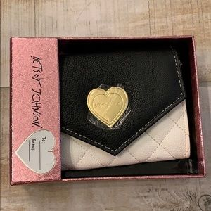 Betsey Johnson flap over wallet